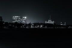 夜在布加勒斯特 库存图片