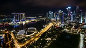 夜在新加坡 股票录像