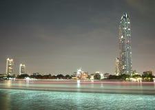 夜在曼谷 库存照片