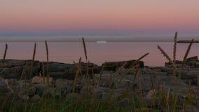 夜在格陵兰 图库摄影