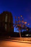 夜在法马古斯塔,塞浦路斯 库存图片