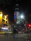夜在波哥大,哥伦比亚 库存图片
