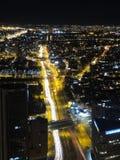 夜在波哥大,哥伦比亚 免版税库存图片