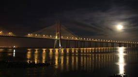 夜在里斯本 库存图片