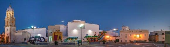 夜在Plaza de la默塞德 免版税库存图片