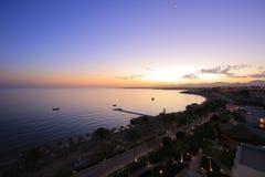 夜在Sharm El谢赫 免版税图库摄影