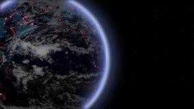 夜地球放大 库存例证