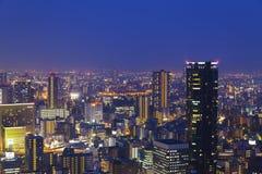 夜场面在大阪,日本 免版税库存照片