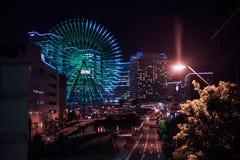 夜场面在横滨 免版税库存照片