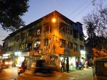 夜场面在Bandra孟买印度 免版税图库摄影