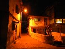 夜场面在Bandra,孟买 免版税图库摄影
