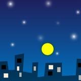 夜城市传染媒介 库存照片