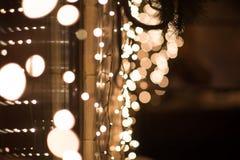 夜城市光,抽象背景 充满活力 免版税库存图片