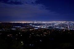 夜城市全景 图库摄影
