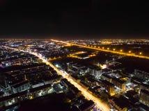 夜城市在泰国 免版税图库摄影
