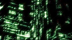 夜城市夜场面  Loopable 绿色 皇族释放例证