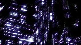 夜城市夜场面  Loopable 蓝色 库存例证