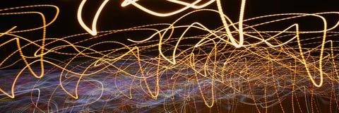 夜城市的抽象背景光 库存图片