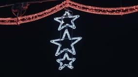 夜城市的街道的欢乐圣诞节诗歌选照明 股票视频