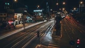 夜城市的长的曝光时间流逝 股票视频