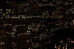 夜城市的风景 免版税图库摄影