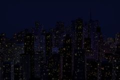 夜城市的风景 图库摄影