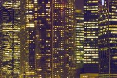 夜城市窗口 免版税库存图片