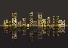 夜城市背景 免版税库存照片