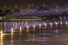 夜城市走道 图库摄影