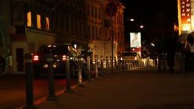 夜城市边路 股票视频