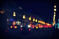 夜城市道路 免版税库存图片