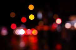 夜城市bokeh 图库摄影