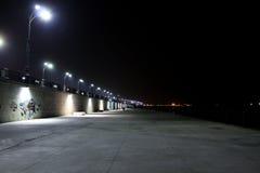 夜堤防 免版税库存照片