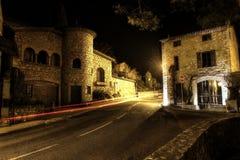 大街在中世纪村庄 库存照片