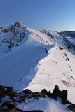 夜山- Tatras在冬天 免版税图库摄影