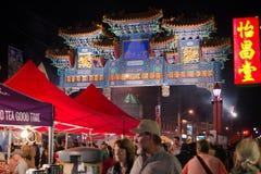 夜市场在渥太华 库存照片