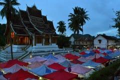 夜市场在琅勃拉邦,老挝 图库摄影