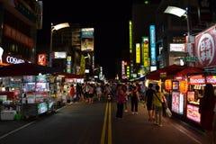 夜市场在高雄 库存图片