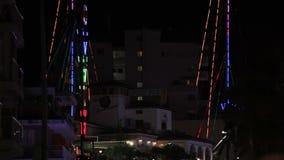 夜市的街道Magaluf 股票视频