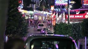 夜市的街道Magaluf 影视素材
