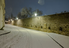 夜布拉格美好的风景  图库摄影