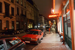 夜布鲁塞尔 免版税库存图片
