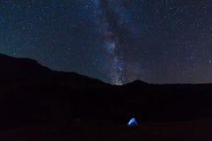 夜帐篷 库存照片