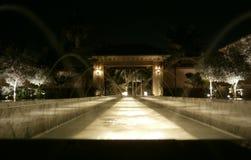 夜庭院 库存图片