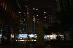 夜庭院 图库摄影