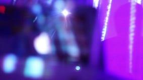 夜总会大气, DJ遮蔽继续前进墙壁,光飘动 影视素材