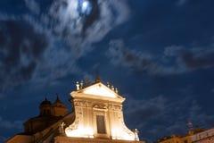 夜教会 库存图片