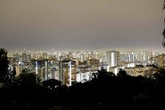 夜新加坡都市风景 图库摄影