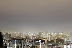 夜新加坡都市风景 免版税库存图片