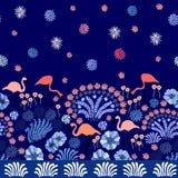 夜日本人庭院 免版税库存照片